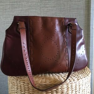 Italian Leather Brown Handbag By BCBD MAXAZRIA